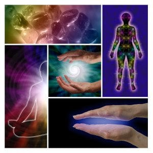 Energy healing collage
